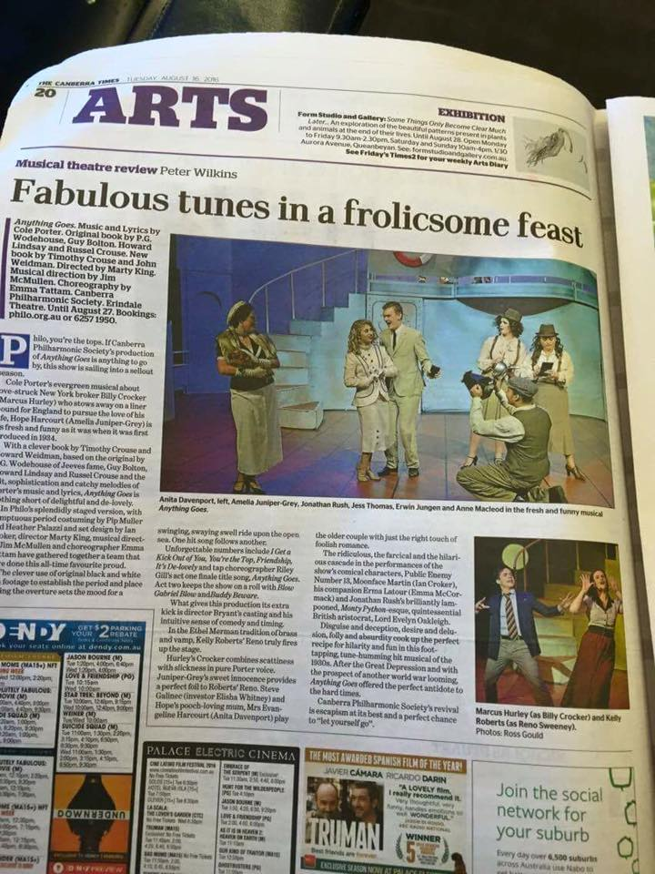 Canberra Times Review